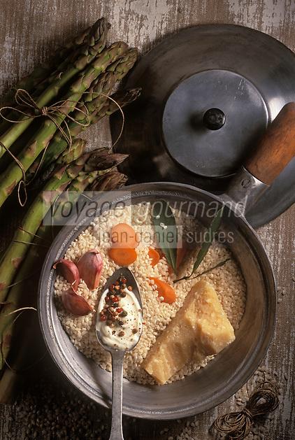 Gastronomie générale / Cuisine générale : Ingrédients du Risotto aux asperges et parmesan