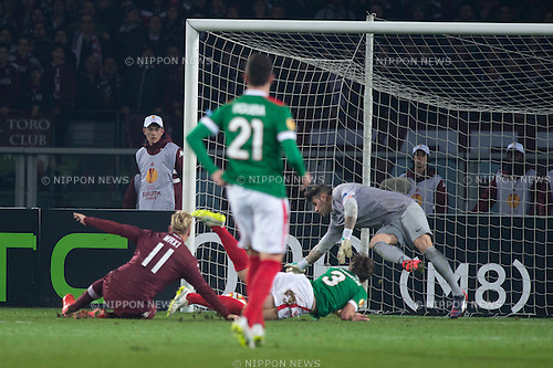 Maxi Lopez (Torino), FEBRUARY 19, 2015 - Football / Soccer : Maxi Lopez of Torino scores their team first goal during the UEFA Europa League, round of 32 first leg match between Torino FC 2-2 Athletic Club Bilbao at Stadio Olimpico di Torino in Turin, Italy. (Photo by Maurizio Borsari/AFLO)