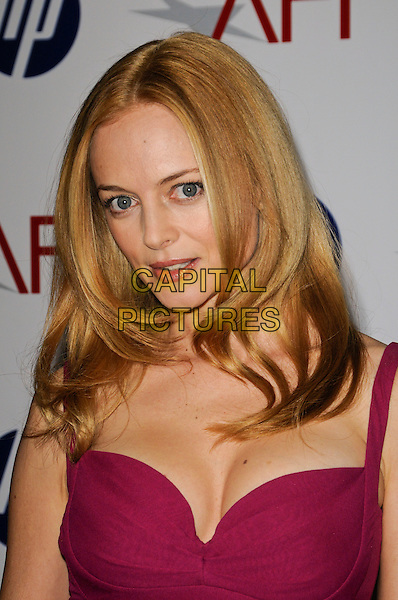 HEATHER GRAHAM .At the 10th Annual AFI Awards at the Four Seasons Hotel in Los Angeles, California, USA, January 15th, 2010..arrivals portrait headshot pink cleavage purple magenta  .CAP/ROT.©Lee Roth/Capital Pictures.