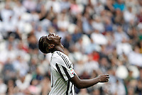 Calcio, Serie A: Juventus vs Palermo. Torino, Juventus Stadium, 17 aprile 2016.<br /> Juventus&rsquo; Paul Pogba reacts during the Italian Serie A football match between Juventus and Palermo at Turin's Juventus Stadium, 17 April 2016.<br /> UPDATE IMAGES PRESS/Isabella Bonotto
