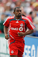 Toronto FC defender Marvell Wynne (16). Toronto FC defeated the Los Angeles Galaxy 2-0 during a Major League Soccer match at BMO Field in Toronto, Ontario, Canada, on May 31, 2008.