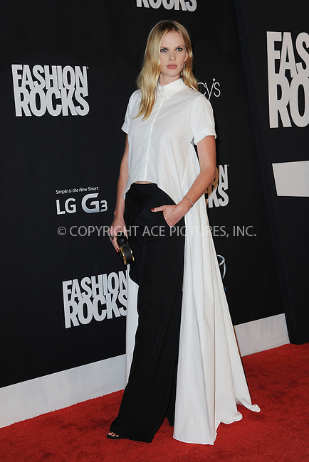 WWW.ACEPIXS.COM<br /> September 9, 2014 New York City<br /> <br /> Anne Vyalitsyna attending Fashion Rocks 2014 at the Barclays Center September 9, 2014 in New York City.<br /> <br /> Please byline: Kristin Callahan/AcePictures<br /> <br /> ACEPIXS.COM<br /> <br /> Tel: (212) 243 8787 or (646) 769 0430<br /> e-mail: info@acepixs.com<br /> web: http://www.acepixs.com