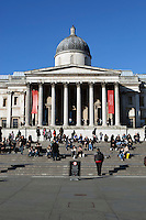 United Kingdom, London: The National Gallery in Trafalgar Square | Grossbritannien, England, London: Trafalgar Square mit der National Gallery