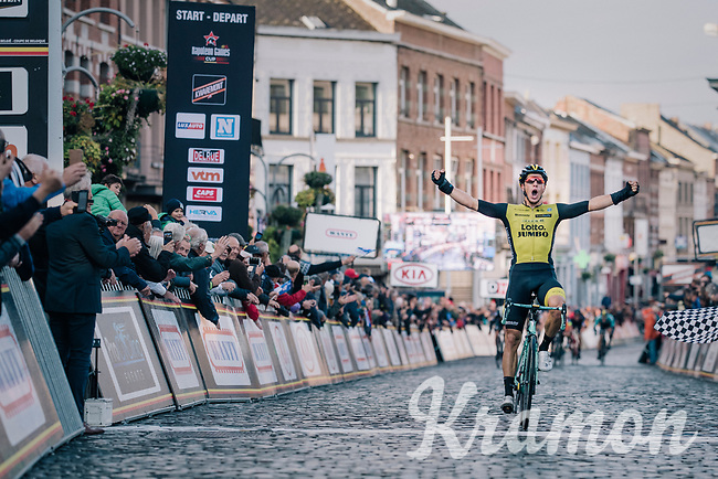 Danny Van Poppel (NED/LottoNL-Jumbo) wins the 2018 Binche - Chimay - Binche / Memorial Frank Vandenbroucke (1.1 Europe Tour)<br /> <br /> 1 Day Race: Binche to Binche (197km)