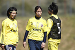 (L-R) Yoko Tanaka, Emi Nakajima, Mina Tanaka (JPN), MARCH 6, 2013 - Football / Soccer : The 2013 Algarve Women's Football Cup match between Japan 0-2 Norway at Estadio Municipal da Bela Vista, Parchal, Portugal. (Photo by AFLO) [3604]