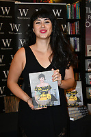LONDON, ENGLAND - FEBRUARY 13: Melissa Hemsley, co-founder of London-based healthy foods business Hemsley &amp; Hemsley and food writer signs copies of her new cookbook Eat Happy: 30-minute Feelgood Food, which features 130 recipes that can be made in 30 minutes or less at Waterstones Leadenhall Market on February 13th, 2018 in London, England.<br /> CAP/JOR<br /> &copy;JOR/Capital Pictures