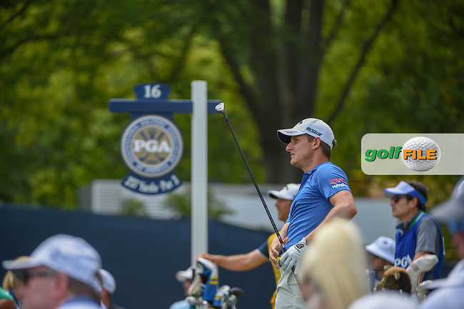 Emiliano Grillo (ARG) watches his tee shot on 16 during 1st round of the 100th PGA Championship at Bellerive Country Club, St. Louis, Missouri. 8/9/2018.<br /> Picture: Golffile | Ken Murray<br /> <br /> All photo usage must carry mandatory copyright credit (© Golffile | Ken Murray)