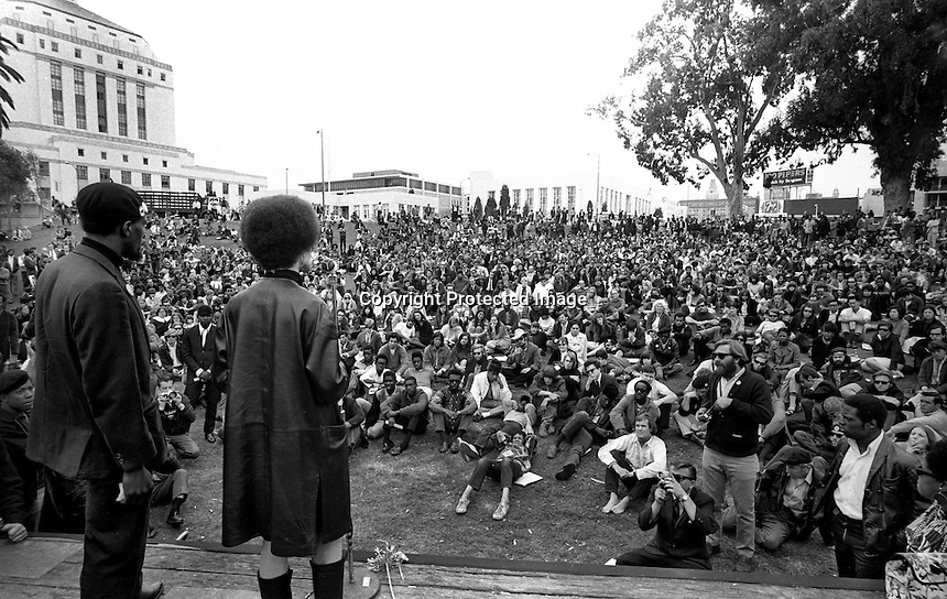 Black Panther rally at Lakeside Park in Oakland, Caif.<br />