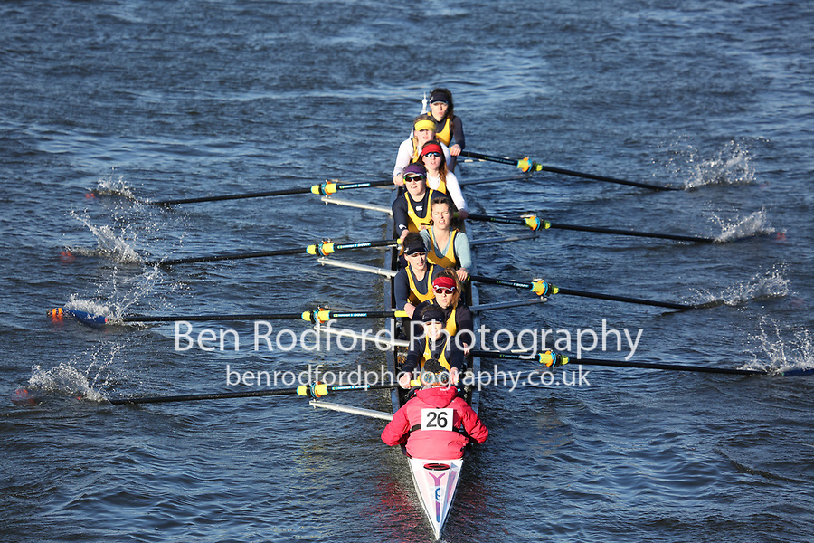 Crew: 26   Grosvenor Rowing Club   GRO-MITCHELL   W.8+ Band 1<br /> <br /> Head of the Trent 2018<br /> Division 3<br /> <br /> To purchase this photo, or to see pricing information for Prints and Downloads, click the blue 'Add to Cart' button at the top-right of the page.