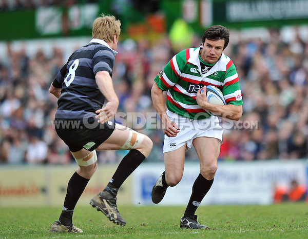 Martin Corry in possession. Leicester Tigers Legends Match, between Louis Deacon's Tigers Legends and the Matt Hampson's International Legends on April 21, 2013 at Welford Road in Leicester, England. Photo by: Patrick Khachfe / Onside Images