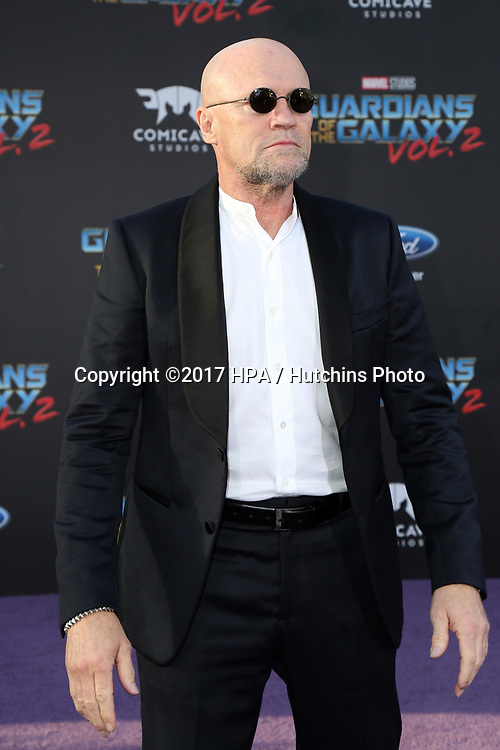 "LOS ANGELES - APR 19:  Michael Rooker at the ""Guardians of the Galaxy Vol. 2"" Los Angeles Premiere at the Dolby Theater on April 19, 2017 in Los Angeles, CA"