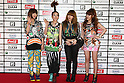 TOKYO - MAY 29: 2NE1 members arrive at the red carpet of the World Stage MTVJ 2010 show, May 29, 2010 at Yoyogi National Stadium in Tokyo, Japan.