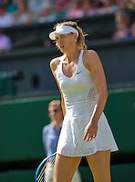 England, London, June 29, 2015, Tennis, Wimbledon, Maria Sharapova (RUS) is upset<br /> Photo: Tennisimages/Henk Koster