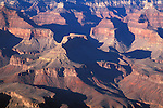 Afternoon light in the Grand Canyon, Grand Canyon National Park, Arizona