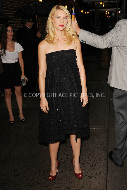 WWW.ACEPIXS.COM . . . . . .September 4, 2012...New York City....Claire Danes tapes an appearance on the Late Show with David Letterman on September 4, 2012  in New York City ....Please byline: KRISTIN CALLAHAN - ACEPIXS.COM.. . . . . . ..Ace Pictures, Inc: ..tel: (212) 243 8787 or (646) 769 0430..e-mail: info@acepixs.com..web: http://www.acepixs.com .