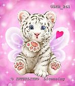 Kayomi, VALENTINE, VALENTIN, paintings+++++ThrowingAKiss_Tiger,USKH261,#v# ,everyday