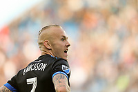 San Jose, CA - Saturday March 31, 2018: Magnus Eriksson during a Major League Soccer (MLS) match between the San Jose Earthquakes and New York City FC at Avaya Stadium.