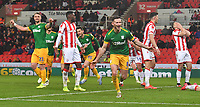 Preston North End's Alan Browne celebrates scoring his team's opening goal<br /> <br /> Photographer Dave Howarth/CameraSport<br /> <br /> The EFL Sky Bet Championship - Stoke City v Preston North End - Wednesday 12th February 2020 - bet365 Stadium - Stoke-on-Trent <br /> <br /> World Copyright © 2020 CameraSport. All rights reserved. 43 Linden Ave. Countesthorpe. Leicester. England. LE8 5PG - Tel: +44 (0) 116 277 4147 - admin@camerasport.com - www.camerasport.com