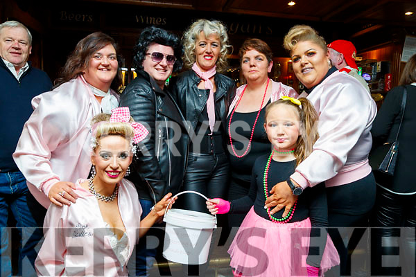 Pictured at the fundraiser 80's/90's disco at the Abbey Tavern, Ardfert on Saturday night last were front l-r: Charaina and Katie Kelly. Back Marian Long, Joe Burkett, Caroline McAuliffe, Brenda O'Connor and Karen Best.