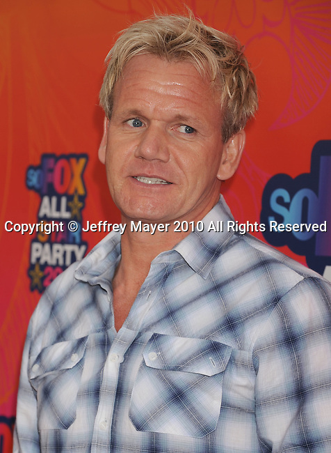 SANTA MONICA, CA. - August 02: Gordon Ramsay arrives at the FOX 2010 Summer TCA All-Star Party at Pacific Park - Santa Monica Pier on August 2, 2010 in Santa Monica, California.