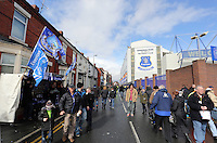 Pictured: Exterior view of Goodison Park. Saturday 22 March 2014<br />