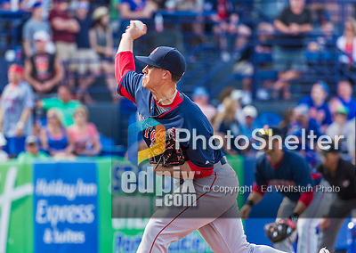 8 March 2015: Boston Red Sox pitcher Keith Couch on the mound during Spring Training action against the New York Mets at Tradition Field in Port St. Lucie, Florida. The Mets fell to the Red Sox 6-3 in Grapefruit League play. Mandatory Credit: Ed Wolfstein Photo *** RAW (NEF) Image File Available ***