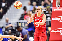 Washington, DC - August 12, 2018: Washington Mystics All-Star guard Elena Delle Donne (11) passes the ball up court during game between the Washington Mystics and the Dallas Wings at the Capital One Arena in Washington, DC. (Photo by Phil Peters/Media Images International)