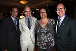 Hal Luftig, Michael Cerveris, Carol Fineman & Scott Sanders.Behind the Scenes at the 2012 Tony Award-Meet The Nominees Press Reception at Millennium Broadway Hotel on May 2, 2012 in New York City. © Walter McBride/WM Photography .