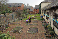 Pictured: General view of the garden Friday 04 March 2016<br /> Re:  Oxfam community project, Duffryn Community Link <br /> located at Tredegar House near Newport, south Wales, UK. The project involves gardening with people in poverty.