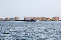 Dakar, Senegal.  Oil Storage Tanks, Port of Dakar.