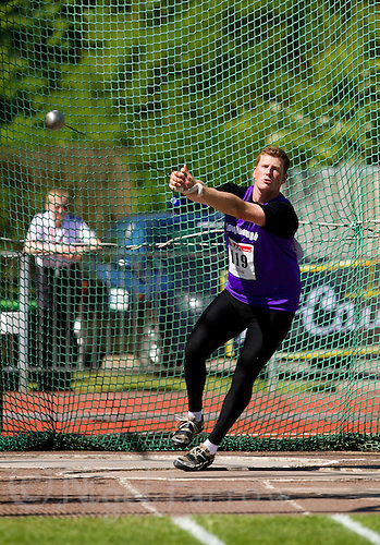 23 MAY 2010 - LOUGHBOROUGH, GBR - Matt Lambley - Mens Hammer - Loughborough International Athletics .(PHOTO (C) NIGEL FARROW)