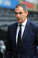 Swansea manager Paul Clement arrives prior to the game during the Premier League match between Swansea City and West Bromwich Albion at The Liberty Stadium, Swansea, Wales, UK. Saturday 09 December 2017