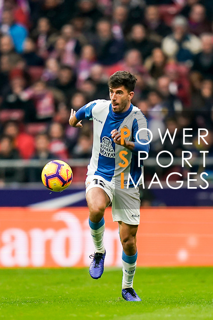 Didac Vila Rossello of RCD Espanyol in action during the La Liga 2018-19 match between Atletico de Madrid and RCD Espanyol at Wanda Metropolitano on December 22 2018 in Madrid, Spain. Photo by Diego Souto / Power Sport Images