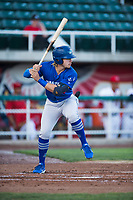 Ogden Raptors right fielder Niko Hulsizer (12) at bat during a Pioneer League game against the Orem Owlz at Home of the OWLZ on August 24, 2018 in Orem, Utah. The Ogden Raptors defeated the Orem Owlz by a score of 13-5. (Zachary Lucy/Four Seam Images)