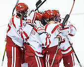 Doyle Somerby (BU - 27) - The Boston University Terriers defeated the visiting University of Connecticut Huskies 4-2 (EN) on Saturday, October 24, 2015, at Agganis Arena in Boston, Massachusetts.