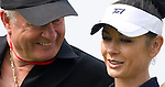Catherine Zeta-Jones and Dai Jones during the Mission Hills Start Trophy at the Mission Hills Golf Resort on October 31, 2010 in Haikou, China. The Mission Hills Star Trophy is Asia's leading leisure liflestyle event and features Hollywood celebrities and international golf stars. Photo by Victor Fraile