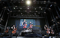 Finland´s Apocalyptica band rock  performs during  day of rock heavy metal  at Rock in Rio Lisbon festival  at Bela Vista park  on 5 June 2008.