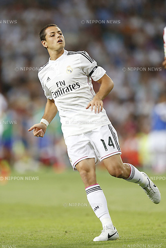 "Javier Hernandez (Real), SEPTEMBER 13, 2014 - Football / Soccer : Spanish ""Liga BBVA"" match between Real Madrid 1-2 Atletico de Madrid at the Santiago Bernabeu Stadium in Madrid, Spain. (Photo by Mutsu Kawamori/AFLO) [3604]"