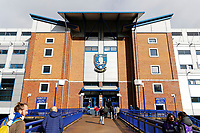 Exterior view of Hillsborough during The Emirates FA Cup Fifth Round match between Sheffield Wednesday and Swansea City at Hillsborough, Sheffield, England, UK. Saturday 17 February 2018