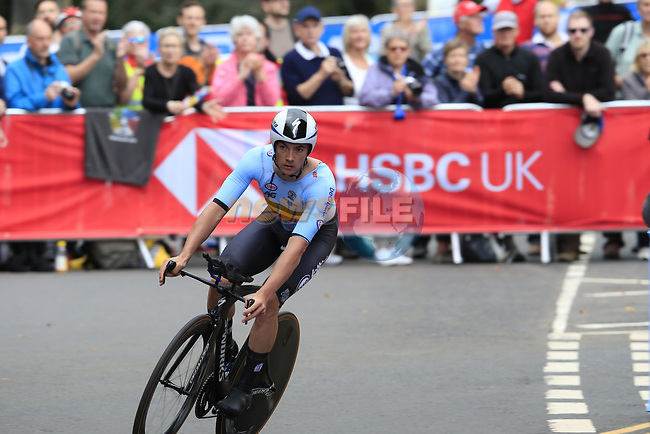 Yves Lampaert (BEL) in action during the Men Elite Individual Time Trial of the UCI World Championships 2019 running 54km from Northallerton to Harrogate, England. 25th September 2019.<br /> Picture: Eoin Clarke | Cyclefile<br /> <br /> All photos usage must carry mandatory copyright credit (© Cyclefile | Eoin Clarke)