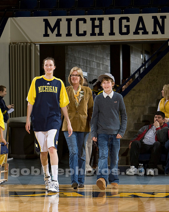 University of Michigan Senior Day 64-63 victory over Purdue at Crisler Arena on 2/28/10.
