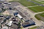 Nederland, Noord-Brabant, Eindhoven, 23-08-2016; vliegveld Eindhoven, Eindhoven airport. Stationsgebouw.<br /> Eindhoven airport, terminal building.<br /> luchtfoto (toeslag op standard tarieven);<br /> aerial photo (additional fee required);<br /> copyright foto/photo Siebe Swart