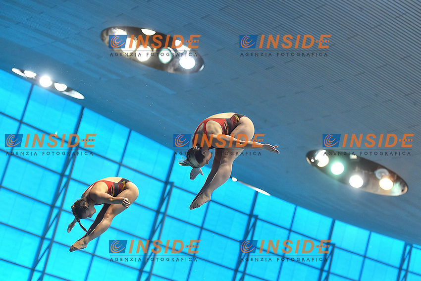 PUNZEL Tina SUBSCHINSKI Nora GER<br /> Men's 10m Platform Final <br /> London, Queen Elizabeth II Olympic Park Pool <br /> LEN 2016 European Aquatics Elite Championships <br /> Diving  <br /> Day 07 15-05-2016<br /> Photo Andrea Staccioli/Deepbluemedia/Insidefoto