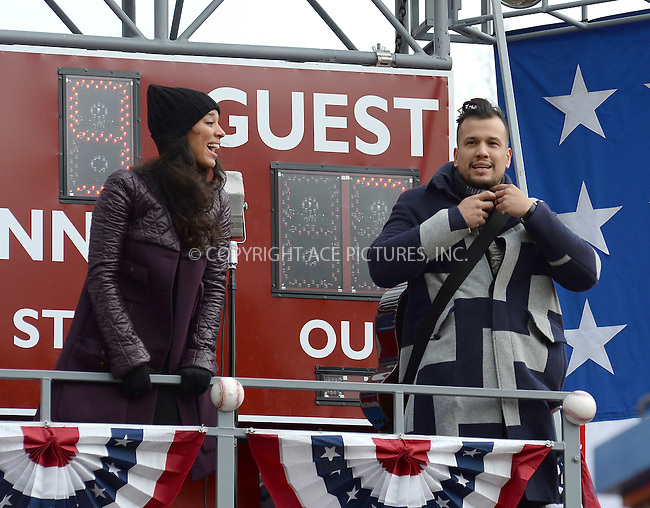 www.acepixs.com<br /> <br /> November 24 2016, New York City<br /> <br /> Amanda Sudano and Abner Ramirez of Johnnyswim made an appearance at the 90th Annual Macy's Thanksgiving Day Parade on November 24, 2016 in New York City.<br /> <br /> By Line: Kristin Callahan/ACE Pictures<br /> <br /> <br /> ACE Pictures Inc<br /> Tel: 6467670430<br /> Email: info@acepixs.com<br /> www.acepixs.com