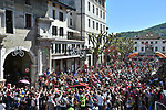 The start of Stage 20 of the 2019 Giro d'Italia, running 194km from Feltre to Croce d'Aune-Monte Avena, Italy. 1st June 2019<br /> Picture: Massimo Paolone/LaPresse | Cyclefile<br /> <br /> All photos usage must carry mandatory copyright credit (© Cyclefile | Massimo Paolone/LaPresse)