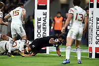 Patrick Tuipulotu of New Zealand scores a Try during the rugby test match between France and New Zealand at Stade des Lumieres on November 14, 2017 in Lyon, France. (Photo by Alexandre Dimou/Icon Sport)