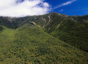 Appalachian Trail - Scenic views of Franconia Ridge from Old Bridle Path in the White Mountain National Forest of New Hampshire, USA.