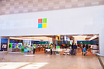 People at Microsoft store, Yorkdale shopping mall, Toronto, Ontario, Canada 2014.