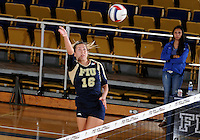 Florida International University women's volleyball player Jovana Bjelica (16) plays against Florida Gulf Coast University.  FIU won the match 3-0 on November 8, 2011 at Miami, Florida. .