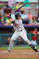 Richmond Flying Squirrels shortstop C.J Hinojosa (25) at bat during a game against the Erie SeaWolves on August 22, 2016 at Jerry Uht Park in Erie, Pennsylvania.  Erie defeated Richmond 4-2.  (Mike Janes/Four Seam Images)